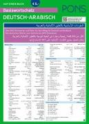 Cover-Bild zu PONS Basiswortschatz auf einen Blick Deutsch-Arabisch