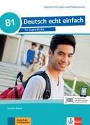 Cover-Bild zu Deutsch echt einfach B1. Kursbuch mit Audios und Videos online von Motta, Giorgio