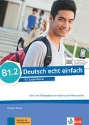 Cover-Bild zu Deutsch echt einfach B1.2. Kurs- und Übungsbuch mit Audios und Videos online von Motta, Giorgio