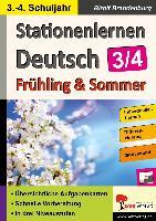 Cover-Bild zu Stationenlernen Deutsch / Frühling & Sommer - Klasse 3/4