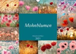 Cover-Bild zu Mohnblumen - Fotografie mit Magie (Wandkalender 2021 DIN A3 quer) von Delgado, Julia