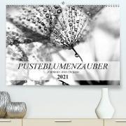 Cover-Bild zu Pusteblumenzauber in schwarzweiß (Premium, hochwertiger DIN A2 Wandkalender 2021, Kunstdruck in Hochglanz) von Delgado, Julia