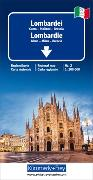 Cover-Bild zu Lombardei Reisekarte Italien Nr. 2, 1:200 000. 1:200'000 von Hallwag Kümmerly+Frey AG (Hrsg.)
