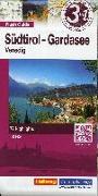 Cover-Bild zu Südtirol-Gardasee-Venedig Flash Guide Strassenkarte 1:175 000. 1:175'000 von Hallwag Kümmerly+Frey AG (Hrsg.)