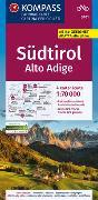 Cover-Bild zu Südtirol - Alto Adige. 1:70'000 von KOMPASS-Karten GmbH (Hrsg.)