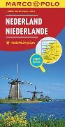 Cover-Bild zu MARCO POLO Länderkarte Niederlande 1:300 000. 1:300'000