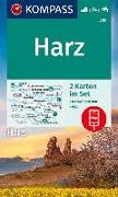 Cover-Bild zu KOMPASS Wanderkarte Harz. 1:50'000 von KOMPASS-Karten GmbH (Hrsg.)