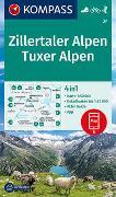 Cover-Bild zu KOMPASS Wanderkarte Zillertaler Alpen, Tuxer Alpen. 1:50'000 von KOMPASS-Karten GmbH (Hrsg.)