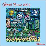 Cover-Bild zu James Rizzi 2022 - Wand-Kalender - Broschüren-Kalender - 30x30 - 30x60 geöffnet - Kunst-Kalender von Rizzi, James