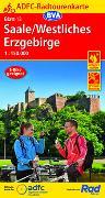 Cover-Bild zu ADFC-Radtourenkarte 13 Saale /Westliches Erzgebirge 1:150.000, reiß- und wetterfest, GPS-Tracks Download. 1:150'000 von Allgemeiner Deutscher Fahrrad-Club e.V. (ADFC) (Hrsg.)