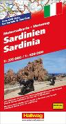 Cover-Bild zu Sardinien MotoMap Motorradkarte 1:275 000 / 1:650 000. 1:250'000 von Hallwag Kümmerly+Frey AG (Hrsg.)
