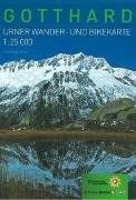 Cover-Bild zu Wander-und Bikekarte Gotthard von Kanton Uri (Hrsg.)