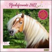 Cover-Bild zu Pferdefreunde 2022 - Broschürenkalender - Kinder-Kalender - Format 30 x 30 cm von Roß, Thea (Illustr.)