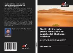 Cover-Bild zu Studio clinico sulle piante medicinali del deserto del Cholistan Pakistan von Ahmad, Saeed