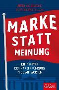 Cover-Bild zu Marke statt Meinung (eBook) von Zschiesche, Arnd