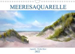 Cover-Bild zu MEERESAQUARELLE (Wandkalender 2022 DIN A4 quer) von Meier, Wiebke