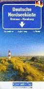 Cover-Bild zu Deutsche Nordseeküste - Bremen, Hamburg Nr. 1. 1:275'000 von Hallwag Kümmerly+Frey AG (Hrsg.)