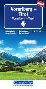 Cover-Bild zu Vorarlberg - Tirol - Südtirol Regionalkarte. 1:175'000 von Hallwag Kümmerly+Frey AG (Hrsg.)