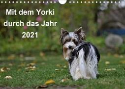 Cover-Bild zu Bauer, Friedhelm: Mit dem Yorki durch das Jahr 2021 (Wandkalender 2021 DIN A4 quer)