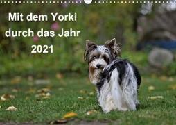 Cover-Bild zu Bauer, Friedhelm: Mit dem Yorki durch das Jahr 2021 (Wandkalender 2021 DIN A3 quer)