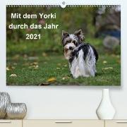 Cover-Bild zu Bauer, Friedhelm: Mit dem Yorki durch das Jahr 2021 (Premium, hochwertiger DIN A2 Wandkalender 2021, Kunstdruck in Hochglanz)