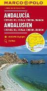 Cover-Bild zu MARCO POLO Karte Andalusien, Costa del Sol, Sevilla, Cordoba, Granada 1:200 000. 1:200'000