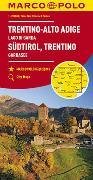 Cover-Bild zu MARCO POLO Karte Italien Blatt 3 Südtirol, Trentino, Gardasee 1:200 000. 1:200'000