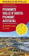 Cover-Bild zu MARCO POLO Karte Blatt Italien 1 Piemont, Aostatal 1:200 000. 1:200'000