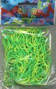 Cover-Bild zu Rainbow Loom Silikonbänder Gelb-grün/Yellow-green