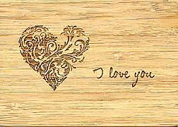 Cover-Bild zu 27335 Bambus Herz GVA_Wishes100 I love you