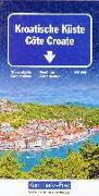 Cover-Bild zu Kroatische Küste Strassenkarte 1:200 000. 1:200'000 von Hallwag Kümmerly+Frey AG (Hrsg.)