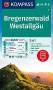 Cover-Bild zu KOMPASS Wanderkarte Bregenzerwald, Westallgäu. 1:50'000 von KOMPASS-Karten GmbH (Hrsg.)