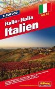 Cover-Bild zu Italien Strassenatlas 1:250 000. 1:250'000 von Hallwag Kümmerly+Frey AG (Hrsg.)