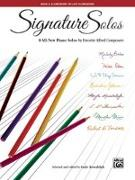 Cover-Bild zu Signature Solos, Bk 2: 8 All-New Piano Solos by Favorite Alfred Composers von Kowalchyk, Gayle (Hrsg.)