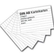 Cover-Bild zu Karteikarten 500 Stück A8 weiß liniert von Ademo Verlag (Hrsg.)