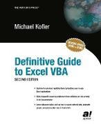 Cover-Bild zu Definitive Guide to Excel VBA von Kofler, Michael