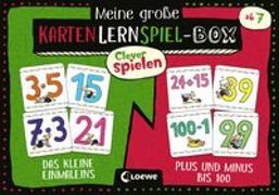 Cover-Bild zu Loewe Lernen und Rätseln (Hrsg.): Clever Spielen - Meine große KartenLernSpiel-Box - Das kleine Einmaleins/Plus und Minus bis 100