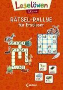 Cover-Bild zu Loewe Lernen und Rätseln (Hrsg.): Leselöwen Rätsel-Rallye für Erstleser - 1. Klasse (orange)