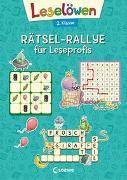 Cover-Bild zu Loewe Lernen und Rätseln (Hrsg.): Leselöwen Rätsel-Rallye für Leseprofis - 2. Klasse (türkis)