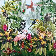 Cover-Bild zu GreenLine Jungle 2022 - Wand-Kalender - Broschüren-Kalender - 30x30 - 30x60 geöffnet von teNeues Calendars