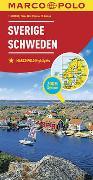 Cover-Bild zu MARCO POLO Länderkarte Schweden 1:800 000. 1:800'000