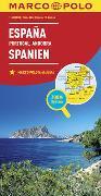 Cover-Bild zu MARCO POLO Länderkarte Spanien, Portugal 1:800 000. 1:800'000