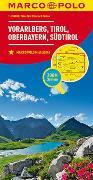 Cover-Bild zu MARCO POLO Regionalkarte Österreich Blatt3 Vorarlberg,Tirol,Oberbayern 1:200 000. 1:200'000