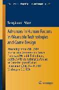 Cover-Bild zu Advances in Human Factors in Wearable Technologies and Game Design (eBook) von Ahram, Tareq (Hrsg.)
