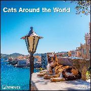 Cover-Bild zu Cats Around the World 2022 - Wand-Kalender - Broschüren-Kalender - 30x30 - 30x60 geöffnet - Katzen-Kalender von teNeues Calendars