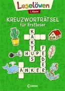 Cover-Bild zu Leselöwen Kreuzworträtsel für Erstleser - 1. Klasse (Grün) von Loewe Lernen und Rätseln (Hrsg.)