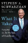 Cover-Bild zu Schwarzman, Stephen A.: What It Takes