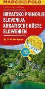 Cover-Bild zu MARCO POLO Karte Kroatische Küste, Slowenien 1:300 000. 1:300'000