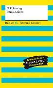 Cover-Bild zu Emilia Galotti. Textausgabe mit Kommentar und Materialien von Lessing, Gotthold Ephraim
