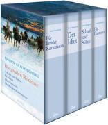 Cover-Bild zu Dostojewski, Fjodor M.: Fjodor Dostojewski, Die großen Romane (Schuld und Sühne - Der Idiot - Die Dämonen - Die Brüder Karamasow) (4 Bände im Schuber)